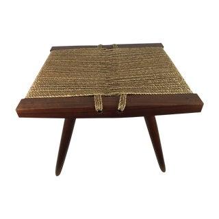 George Nakashima Grass Seat Stool