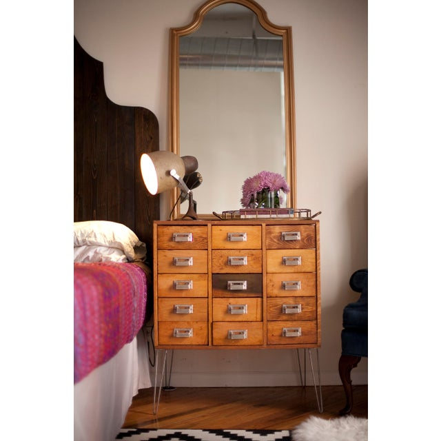 15 Drawer Card Catalog on Hairpin Legs - Image 3 of 11
