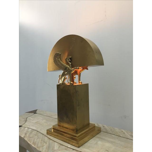 Rare Custom Lamp in the Manner of Karl Springer - Image 8 of 9