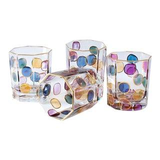 MacKenzie-Childs Octagon Lustre Bubble Glasses - Set of 4