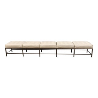 Bronze Frame Bone Leather Bench