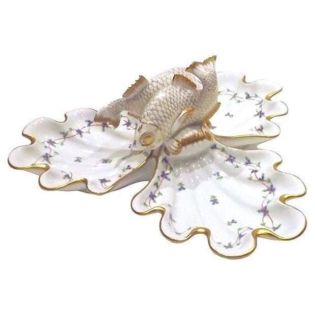Vintage Herend Porcelain Fish & Shell Serving Tray - Image 6 of 9