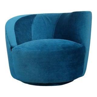 Vintage Vladimir Kagan Style Swivel Chair