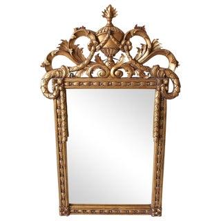 Vintage Italian Hand Carved Gilt Mirror