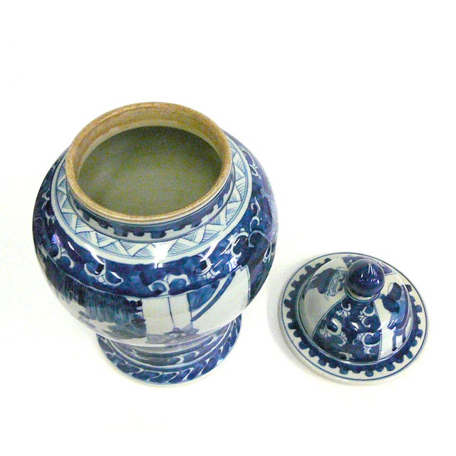 Chinese Blue And White Porcelain Temple Jar - Image 4 of 6
