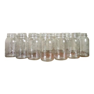 Vintage Atlas Mason Jars - Set of 13