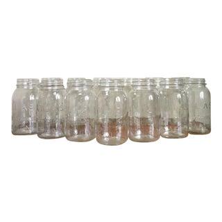 Vintage Atlas Mason Jars - Set of 13