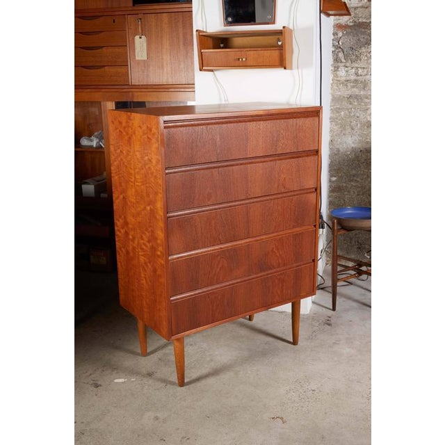 Danish Teak Highboy Dresser - Image 2 of 7