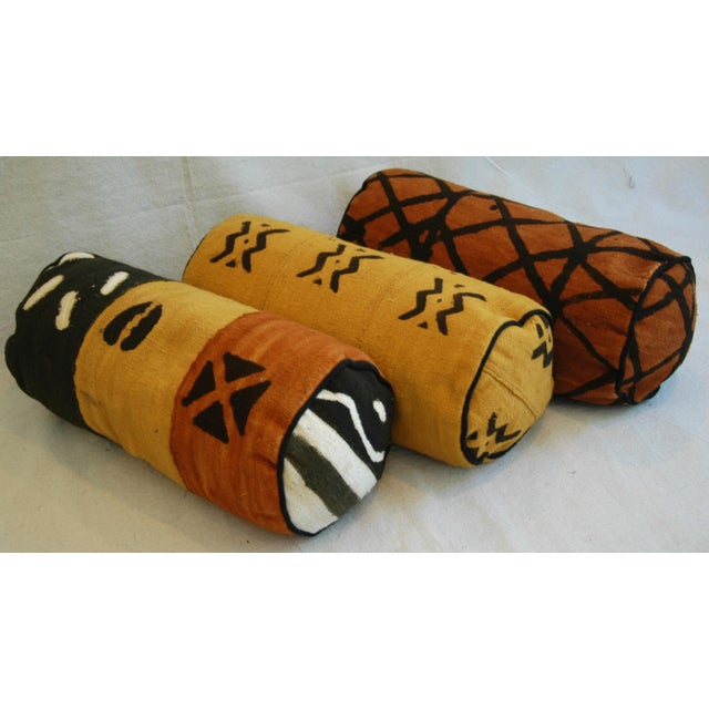 Tribal Mud-Cloth Bolster Accent Pillows - Set of 3 - Image 9 of 9