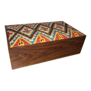 Large Embroidered & Beaded Box
