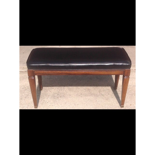 Danish Modern Walnut Vinyl Bench Chairish