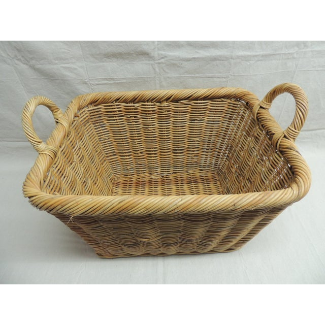 Vintage Wicker Laundry Basket - Image 3 of 4