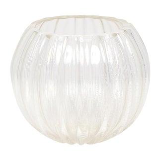 Murano Silver Glass Bowl