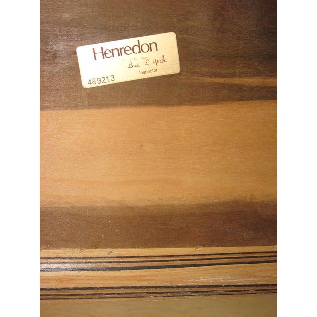 Henredon Olive Burl and Ebony Side Table/Stool - Image 7 of 10