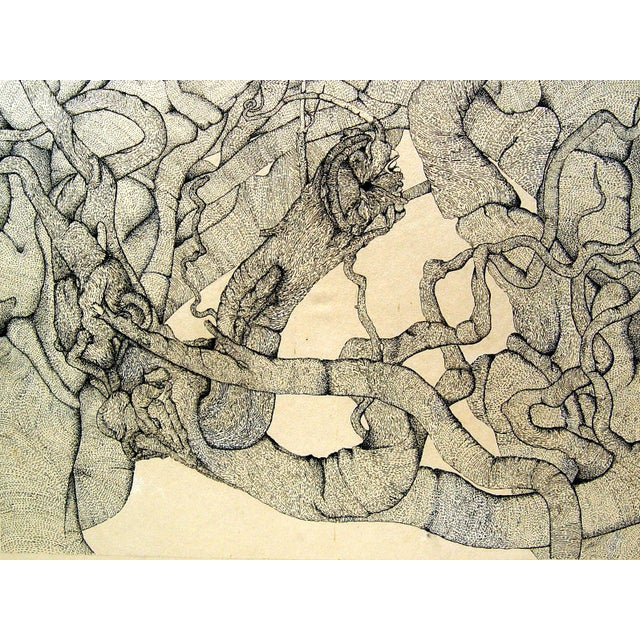 Abstract Tangle Pen & Ink - Image 1 of 2