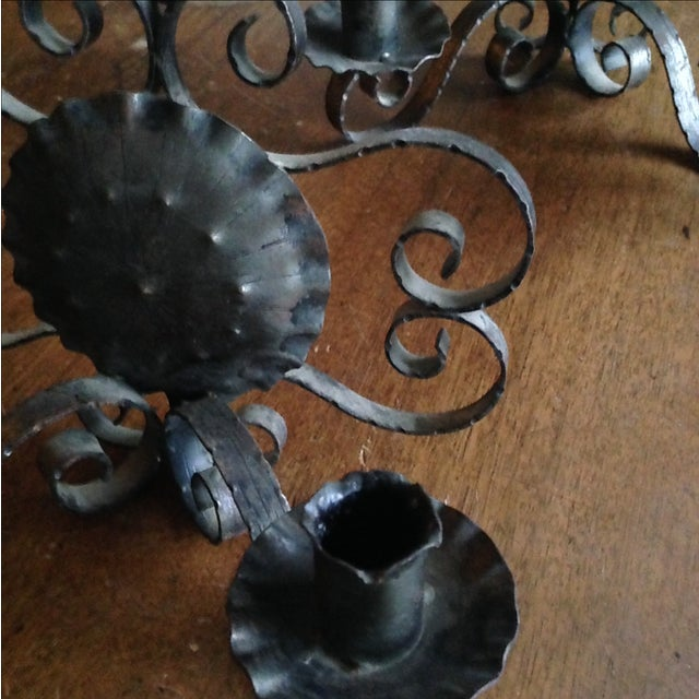 Spanish Revival-Style Candle Sconces- A Pair - Image 11 of 11
