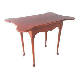 Custom Tiger Maple Queen Anne Tea Table