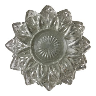 Pressed Glass Starburst Bread Plates - Set of 7