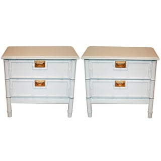 Vintage Faux-Bamboo Nightstands - a Pair