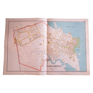 Antique Larchmont New York Map