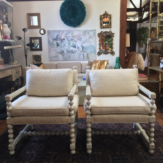 Mid-Century Turned Wood Chairs - A Pair - Image 2 of 7