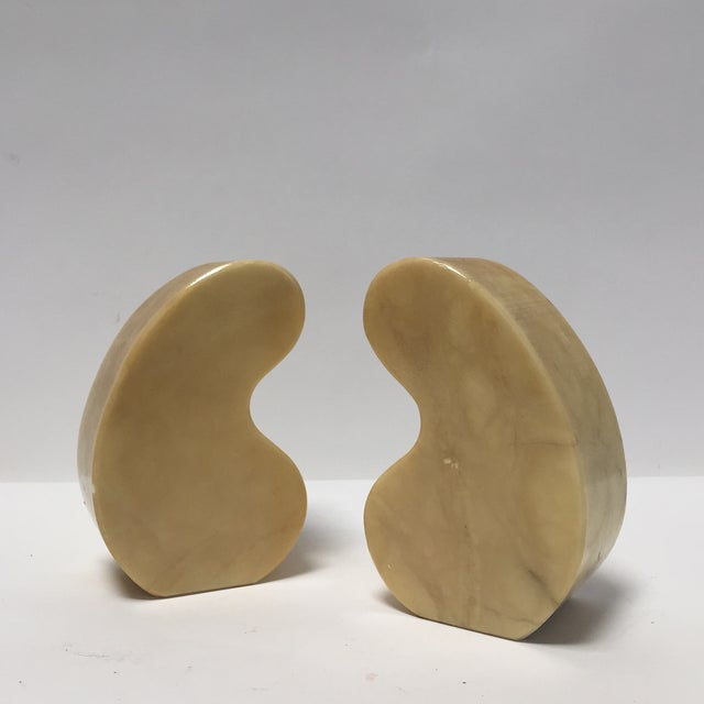 Italian Alabaster Bookends Quotation Mark - Image 2 of 7
