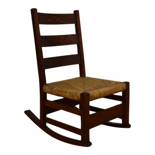 Gustav Stickley Nursery Rocking Chair