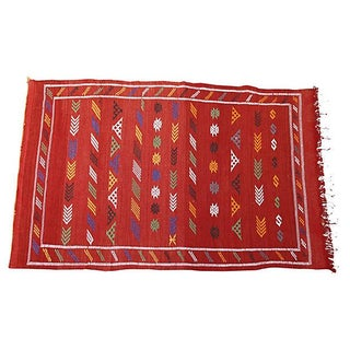 Moroccan Cactus Silk Rug - 3'10'' x 6'4''