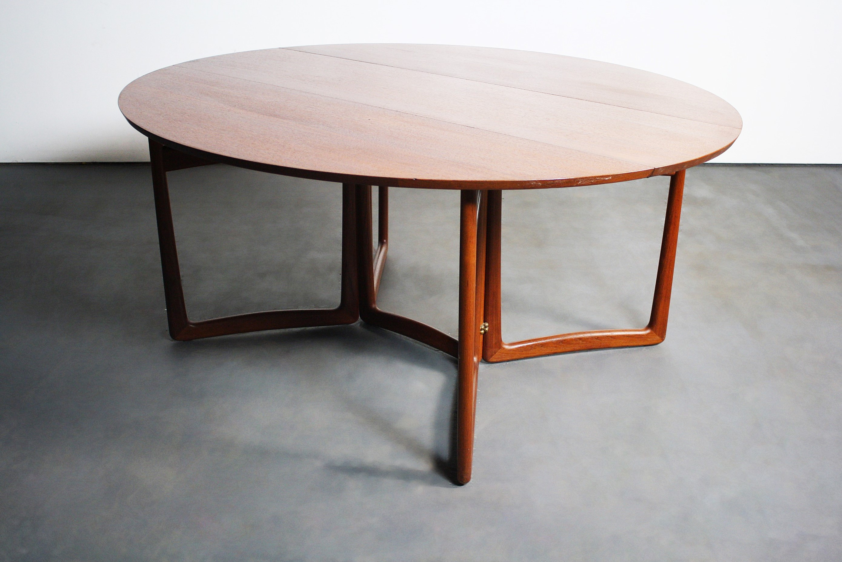 Leaf dining table 4 dining chairs buy butterfly drop leaf dining - Peter Hvidt Amp Orla M 248 Lgaard Nielsen Dining Table Chairish