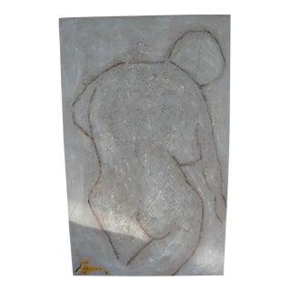 Abstract Painting on Masonite