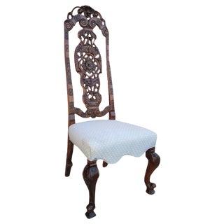 Italian Antique Throne Chair