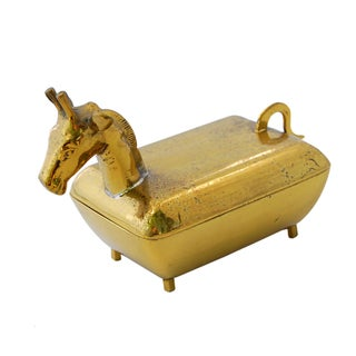 Vintage Brass Giraffe Box