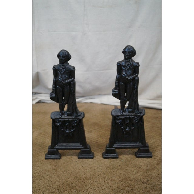 George Washington Andirons- A Pair - Image 2 of 10