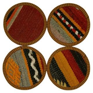 Vintage Bursa Kilim Coasters - Set of 4