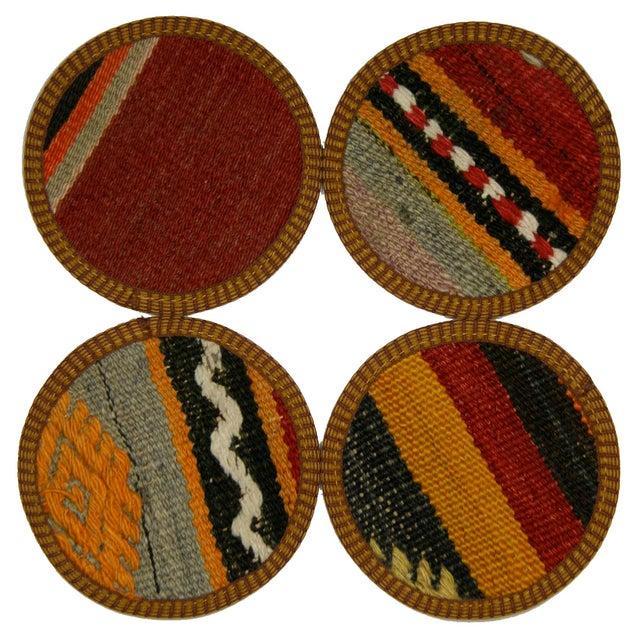 Vintage Bursa Kilim Coasters - Set of 4 - Image 1 of 2