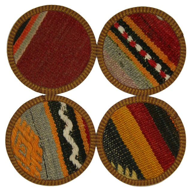 Image of Vintage Bursa Kilim Coasters - Set of 4
