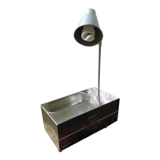 Repurposed Sonic Cleaner Table Lamp With Dish in Base