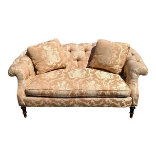 Great American North Carolina Southwood Upholstered Settee Tufted Loveseat