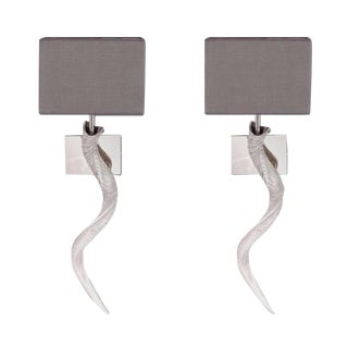 Safari Horn Sconces - A Pair
