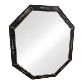 Gold & Black Octagon Mirror