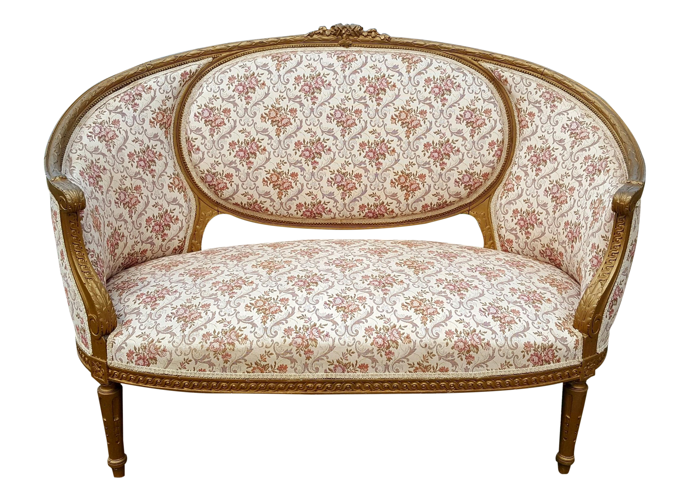 Antique French Louis Xvi Giltwood Gold Loveseat Chairish