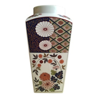 Vintage Flower Plaid Art Design Vase