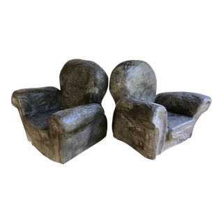 Gray Club Chair Bookends