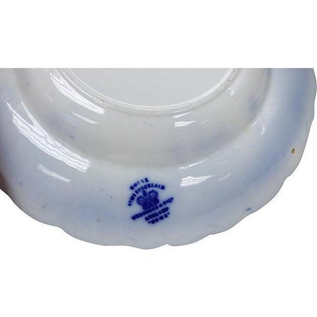 Image of Antique Wedgwood Flow Blue Pasta Bowls - Set of 10