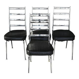 Set of Four Chromecraft Dining Chairs
