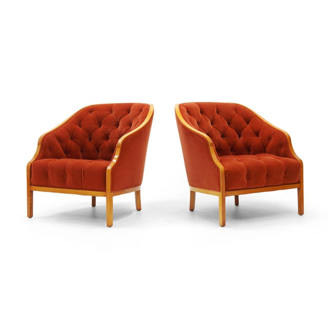 Pair of Ward Bennett Club Chairs for Brickel Associates - Image 2 of 10
