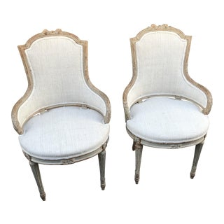 1860 French Petite Fauteuils - A Pair