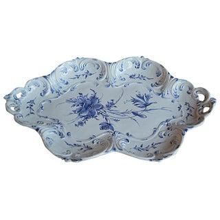 Italian Blue and White Majolica Platter