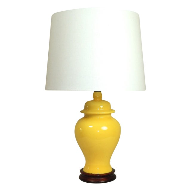 Yellow Ginger Jar Table Lamp - Image 1 of 7