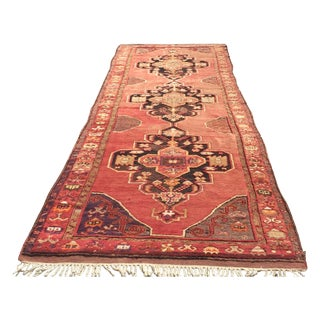 "Vintage Anatolian Red Runner - 4'1"" x 13'9"""